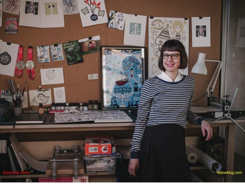Birgitte Haar Lund in her studio