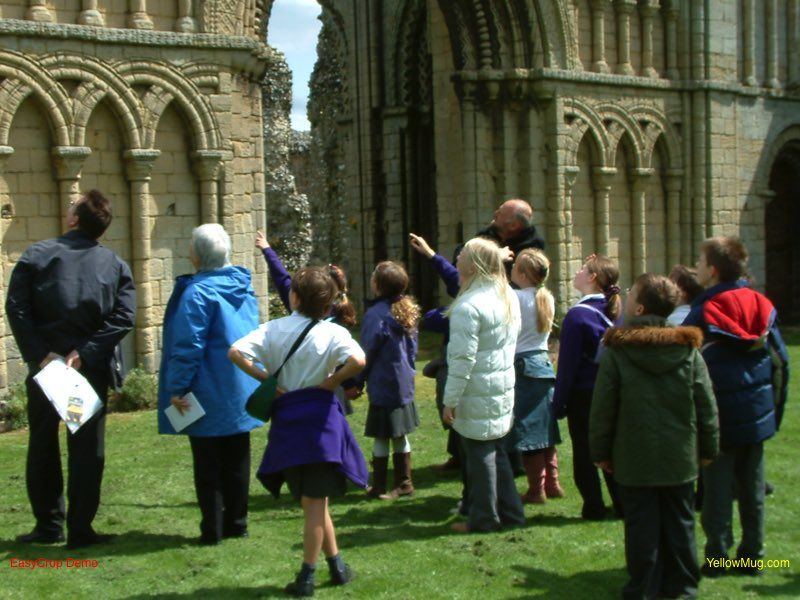 Tour group at English Heritage property