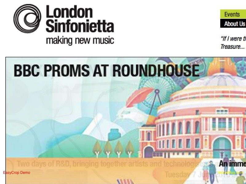 London Sinfonietta website homepage