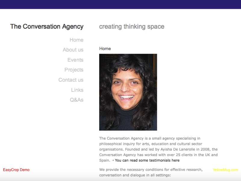 The Conversation Agency homepage