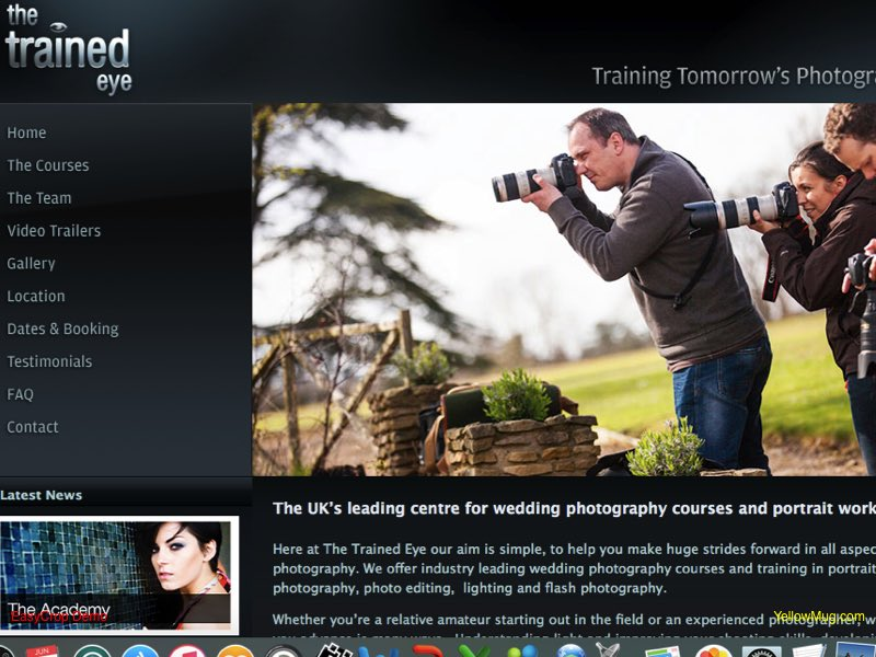 The Trained Eye homepage