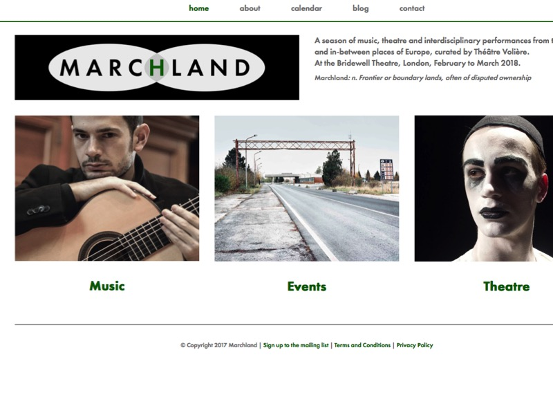 Marchland Season's website homepage.