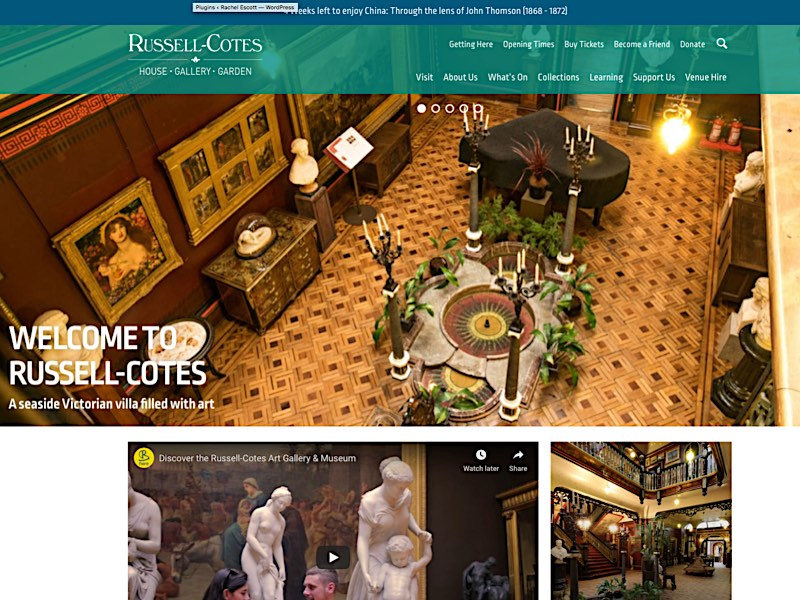 Russell Cotes Gallery homepage Screenshot