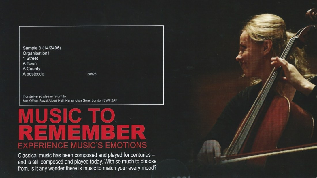 Music to Remember campaign leaflet