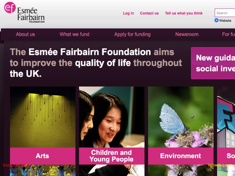 Esme Fairbairn Foundation homepage