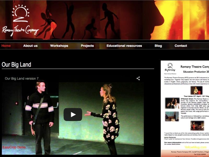 Romany Theatre Company homepage