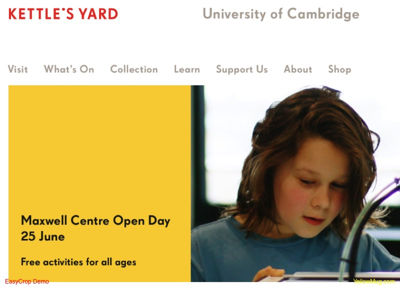 Kettle's Yard homepage