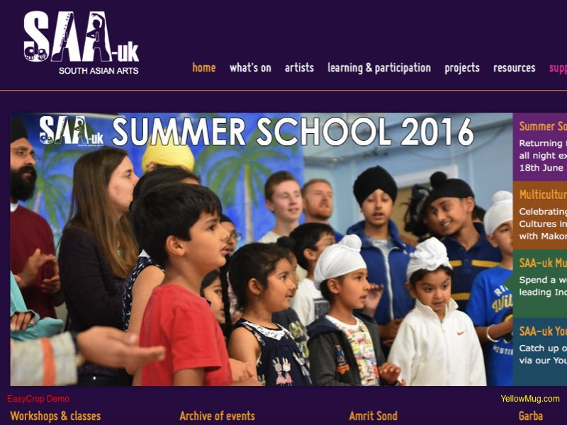 South Asian Arts UK homepage