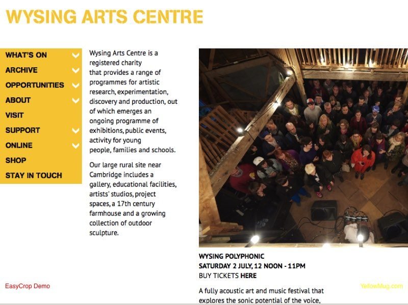 Wysing Arts Centre homepage