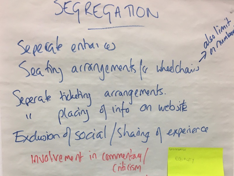 Flipchart from the British Council's Europe Beyond Access study visit - segregation