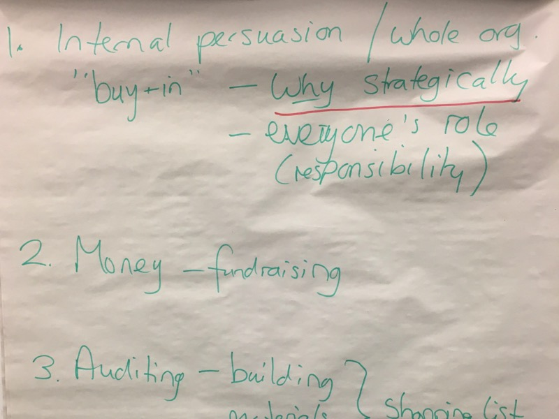 Flipchart from the British Council's Europe Beyond Access study visit - shared themes