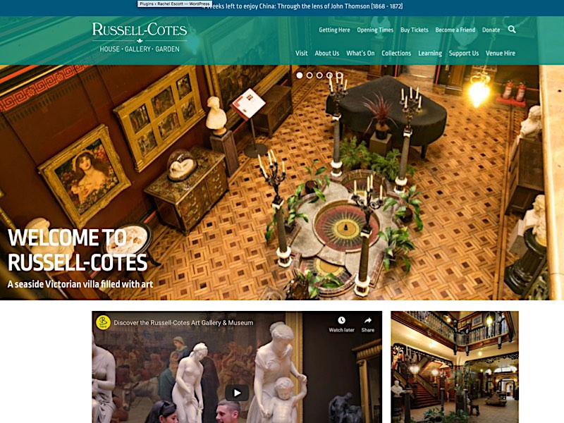 Russell-Cotes Gallery website Screenshot